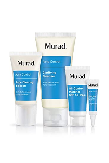 Murad 30 Day Acne Control Kit Cleanser Clearing Solution Oil Control Mattifier
