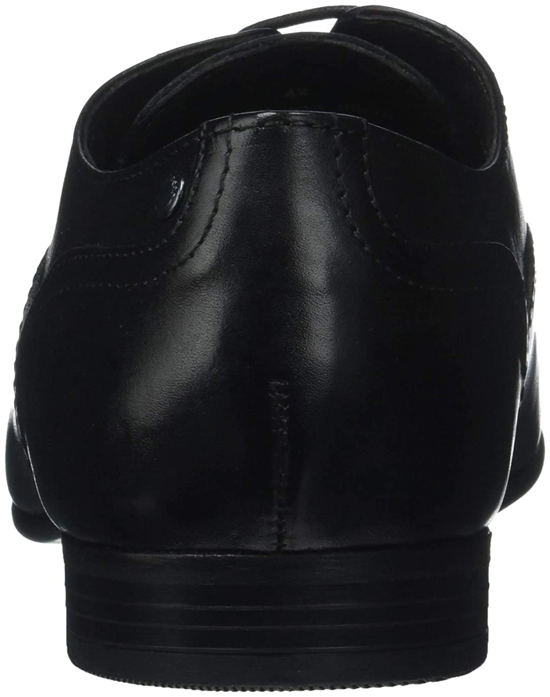 Base London Herren (Waxy Viola Oxfords Noir (Waxy Herren schwarz 010) 9a3049