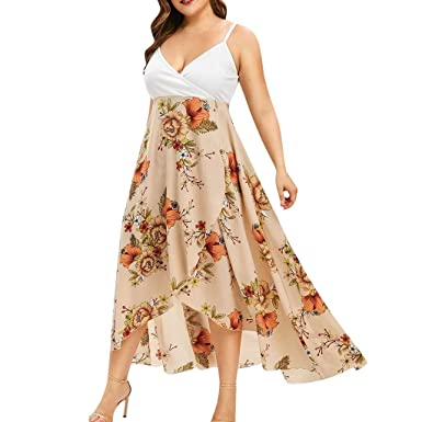VJGOAL - Vestido de verano sexy para mujer, talla sling bohemia ...