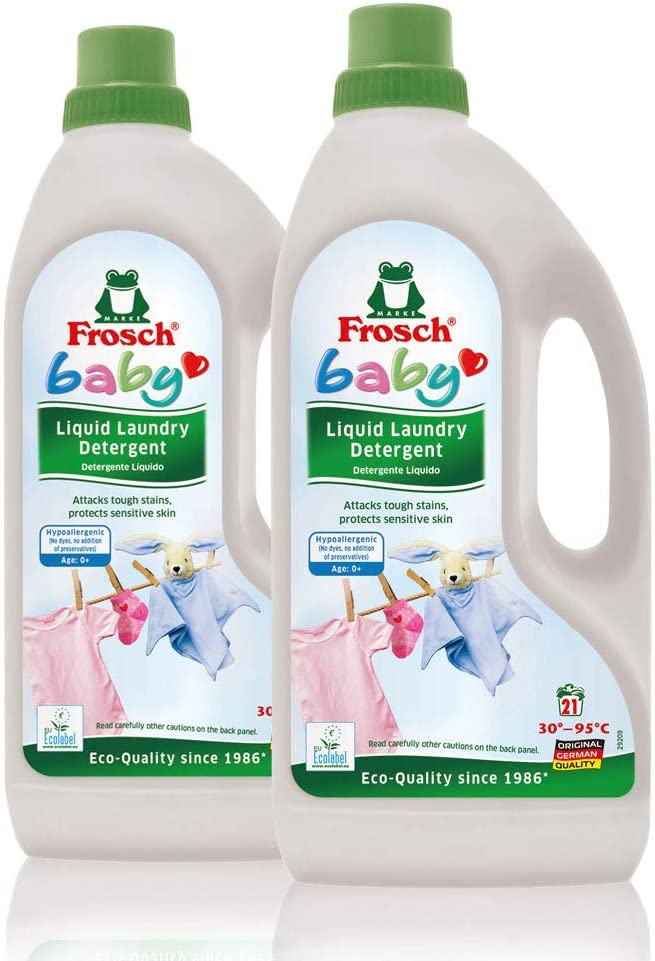 Frosch Baby Natural Liquid Laundry Detergent for Sensitive Skin, 50 fl oz (pack of two)