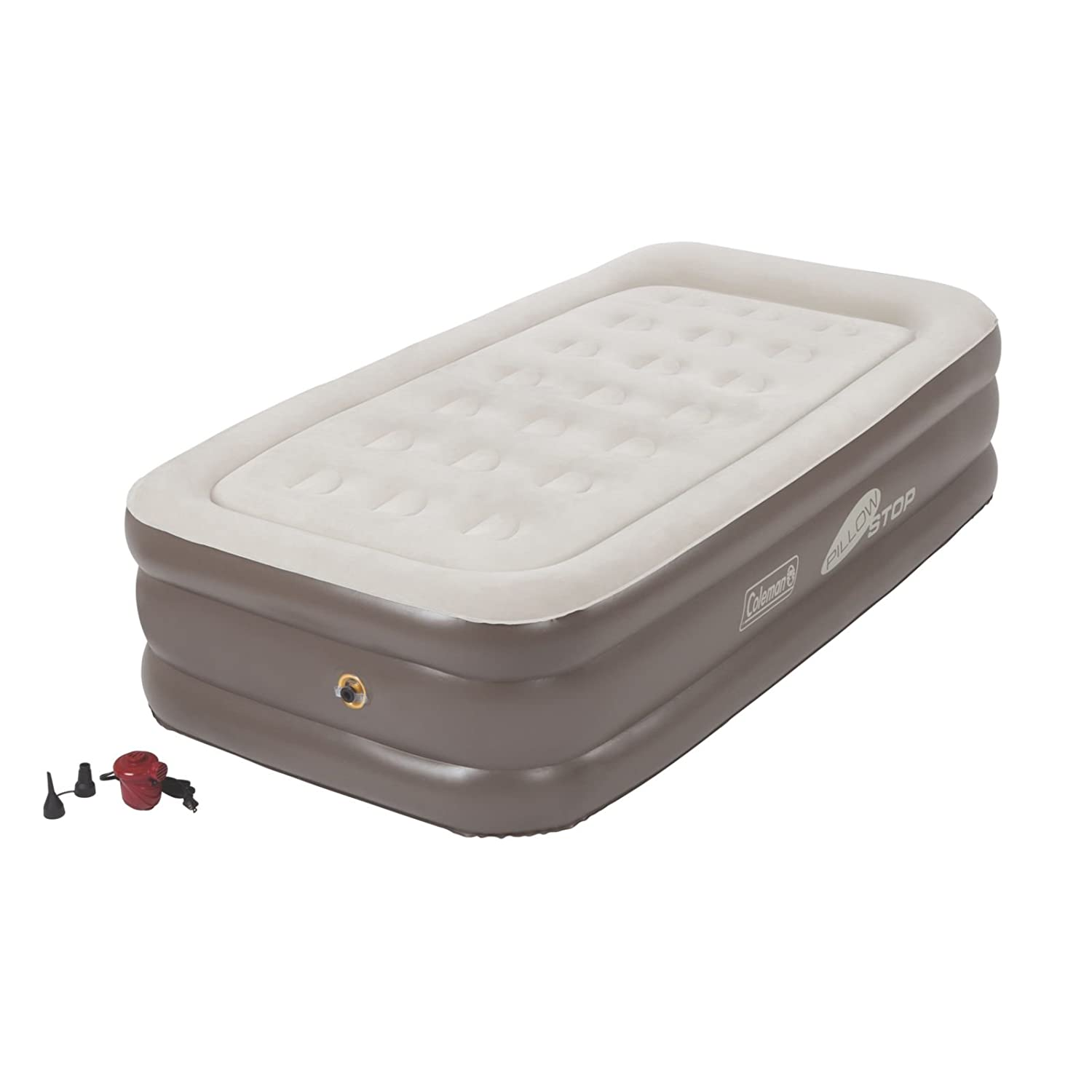 Amazon.com: Coleman SupportRest Plus PillowStop Double High Airbed: Sports  & Outdoors