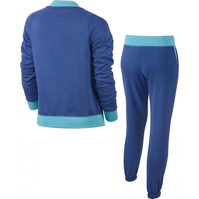 Nike G NSW TRK Suit BF Chándal, Niñas, Azul Vivid Sky/Comet Blue ...