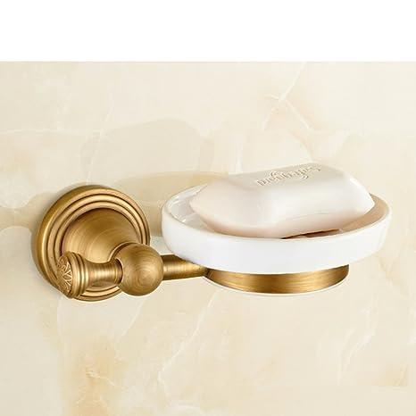 En toda Europa taza de cepillo de dientes de cobre/Copas antiguos/Dual jabonera