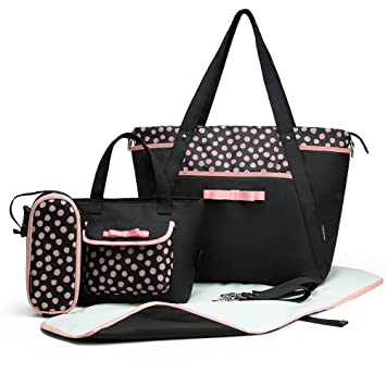 Amazon.com: mommore 4 Pcs Set Bolsa de Pañales con Baby ...
