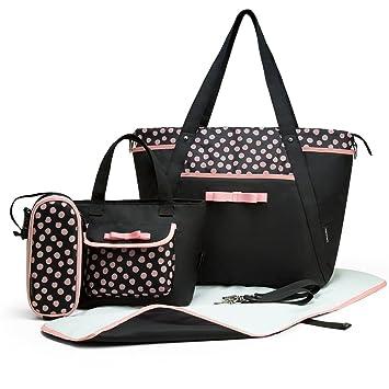Amazon.com: mommore 4 Pcs Set Bolsa de Pañales con Baby ...