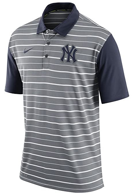 best service 885d7 05a1e Nike New York Yankees Dri-Fit polo a righe, Uomo, Grey