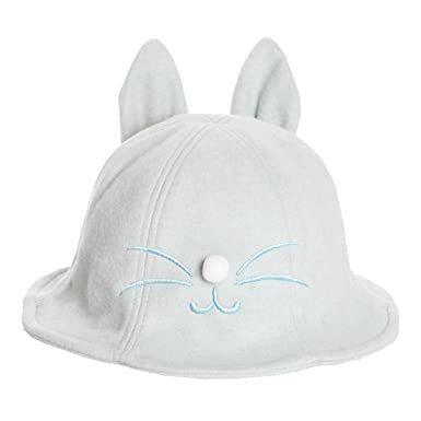 826fa0bacb54a XueXian Kids Baby Girls Toddler Bear Ear Design Winter Woolen Bucket Hat  Outdoor Fit (Blue