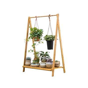CLOTHES UK  Bambus Rattan Bodenständer 1 Tier Kreative Hängenden Bambus  Wohnzimmer Falten Blume RackBalcony Wohnzimmer