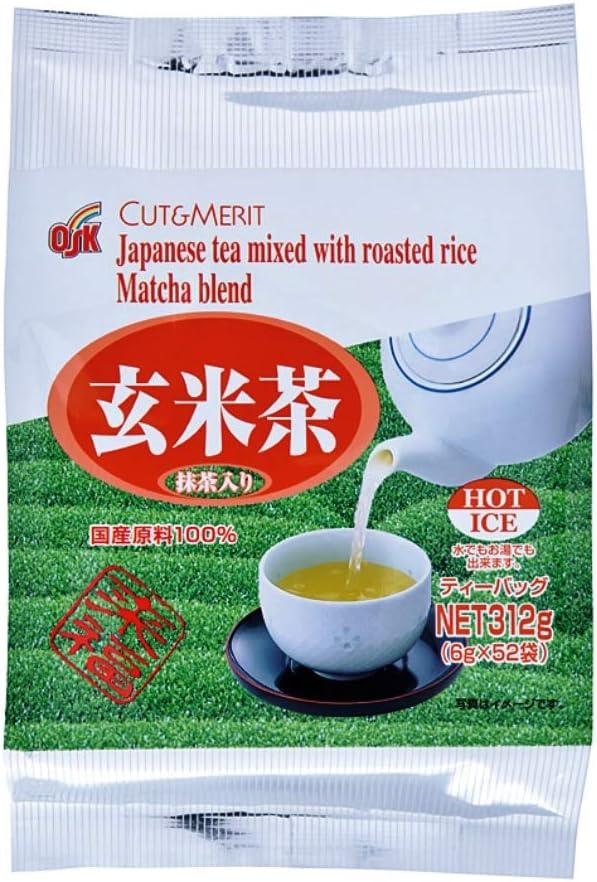 OSKカット&メリット玄米茶ティーパック6g×52袋