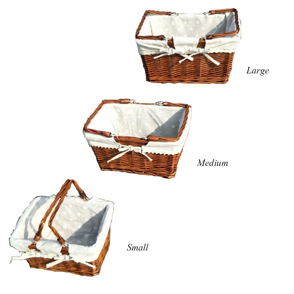 Z@SS Rattan Rattan Rattan Woven Picknickkorb Shopping Und Home Storage Korb Mit Baumwolle Liner Griff One Piece,Coffee,M B07DPR8F2T Krbe & Koffer Haltbarkeit aeca9e