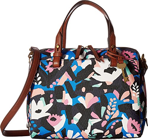 Fossil Women's Rachel Satchel Black Floral One Size by Fossil
