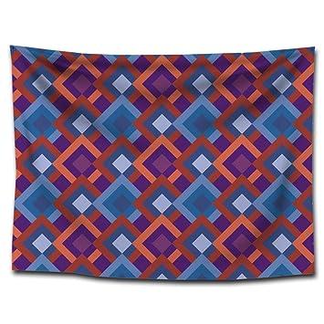 DuDuDu Patrón geométrico Colgante Alfombra Floral pequeño Tapiz Fondo Playa Toalla casa Colgante Pintura de Tela de la tapicería: Amazon.es: Hogar