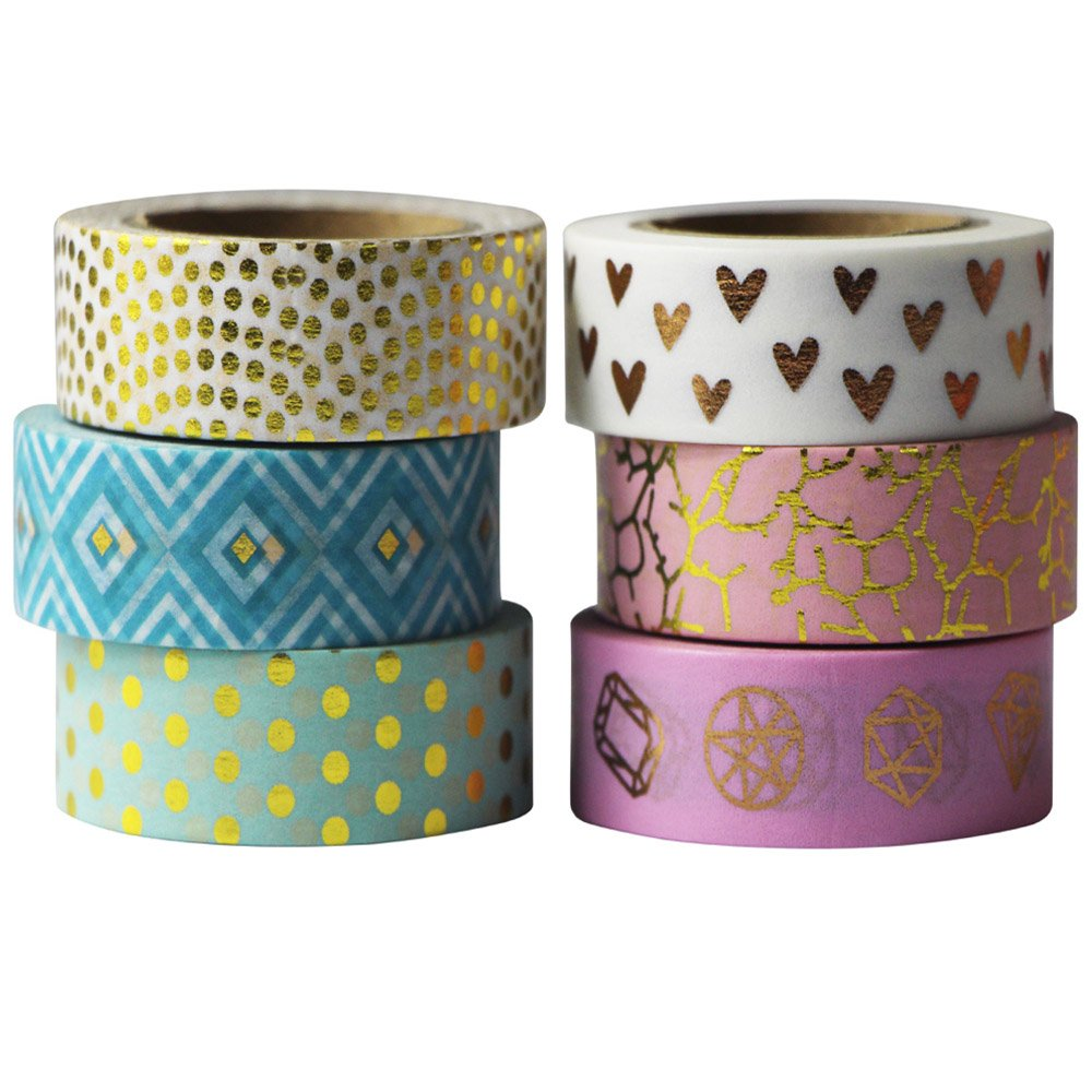 4pcs 10 Meters Paper Washi Masking Tape Decorative for Card Making Notebook