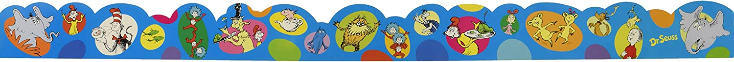 Eureka Dr. Seuss Bubble Bulletin Board Trim and Classroom Decoration for Teachers, 12pc, 3.25'' W x 37'' L