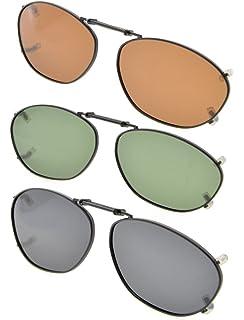 Eyekepper Metallrahmen Felge polarisierte Linse Clip auf Sonnenbrille 51x33MM Graues Linse aJmOspwLp