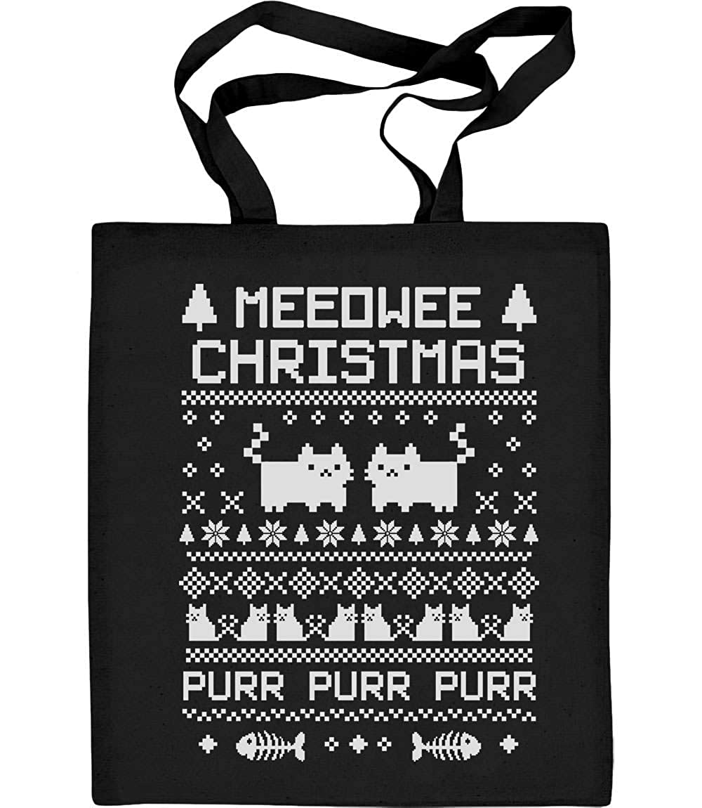 Meeowee Christmas Ugly Sweather Purr Tote Bag VlCwDSf6bCDb1Rv1hhE