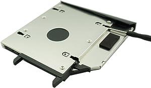 Nimitz 2nd HDD SSD Hard Drive Caddy for Lenovo Ideapad Y400 Y410p Y430p with Bezel