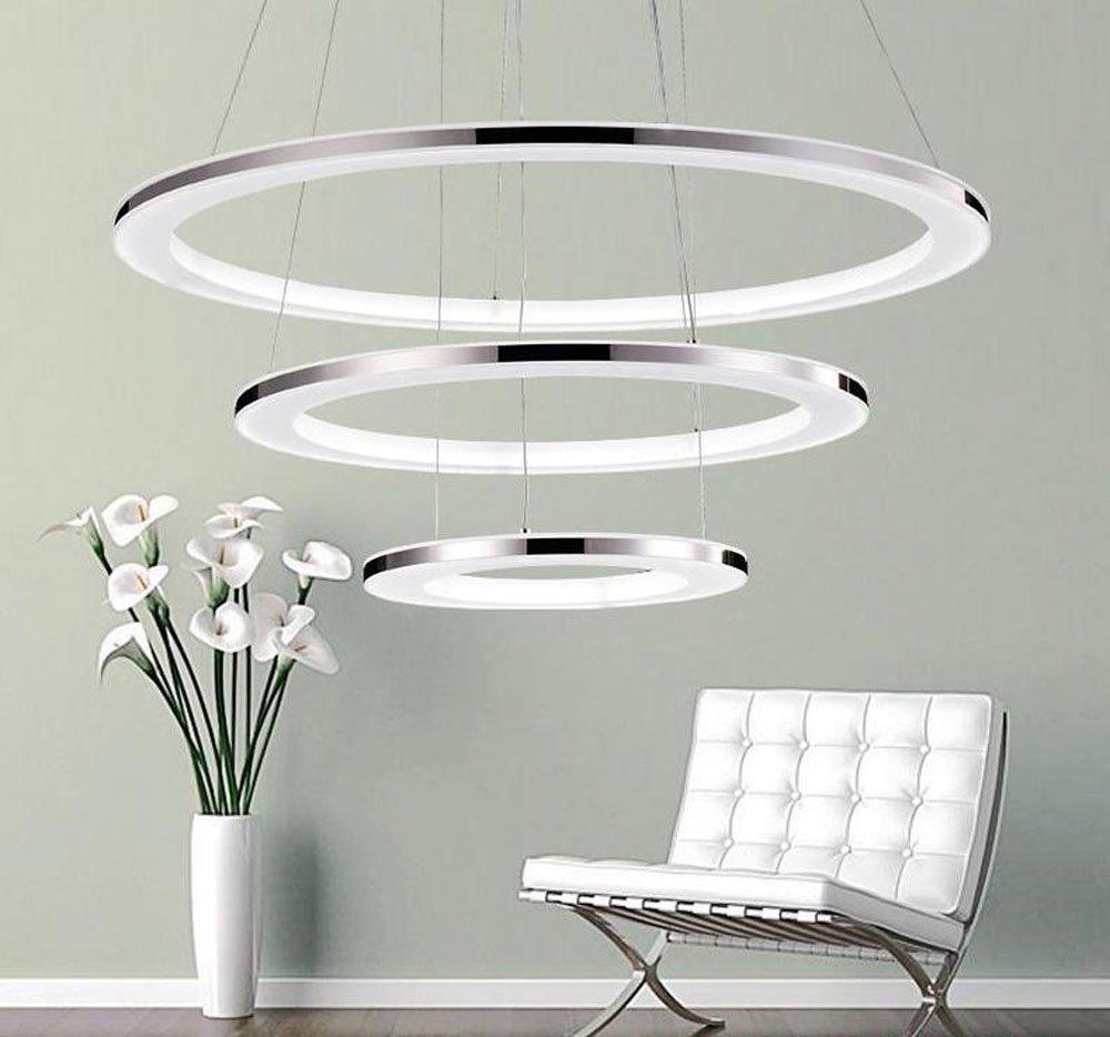 Comedor zmh moderna lámpara colgante LED LED Ring LED regulable ...