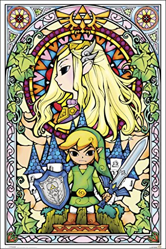 Huge Poster - Legend of Zelda Stained Glass Art