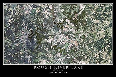 Rough River Lake Kentucky Satellite Poster Map