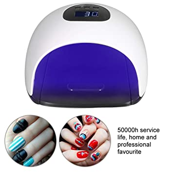 Amazon.com: 48W Intelligent Nail Dryer, UV LED Nail Lamp with 36 Light and LCD Display, 120s Painless Low Temperature Mode(White): Beauty