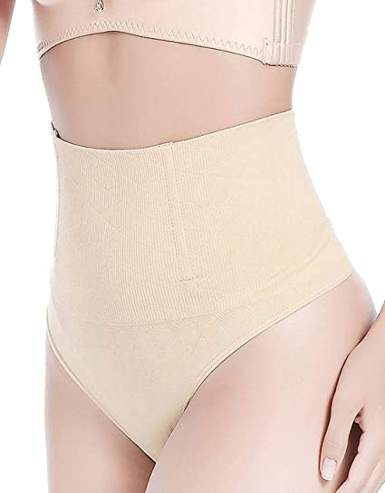 ef7e1e670357c Image Unavailable. Image not available for. Color  FLORATA Women High Waist  Trainer Tummy Slimming Control Waist Cincher Body Shaper Thong ...