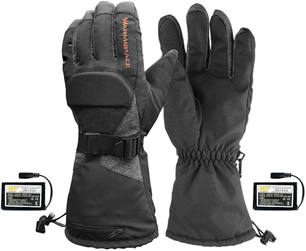 3.7V//3600mAh Lithium Battery Waterproof Temperature Control Heated Warm Gloves for Skiing Riding in Cold Weather Calmson Motorcycle Heated Gloves