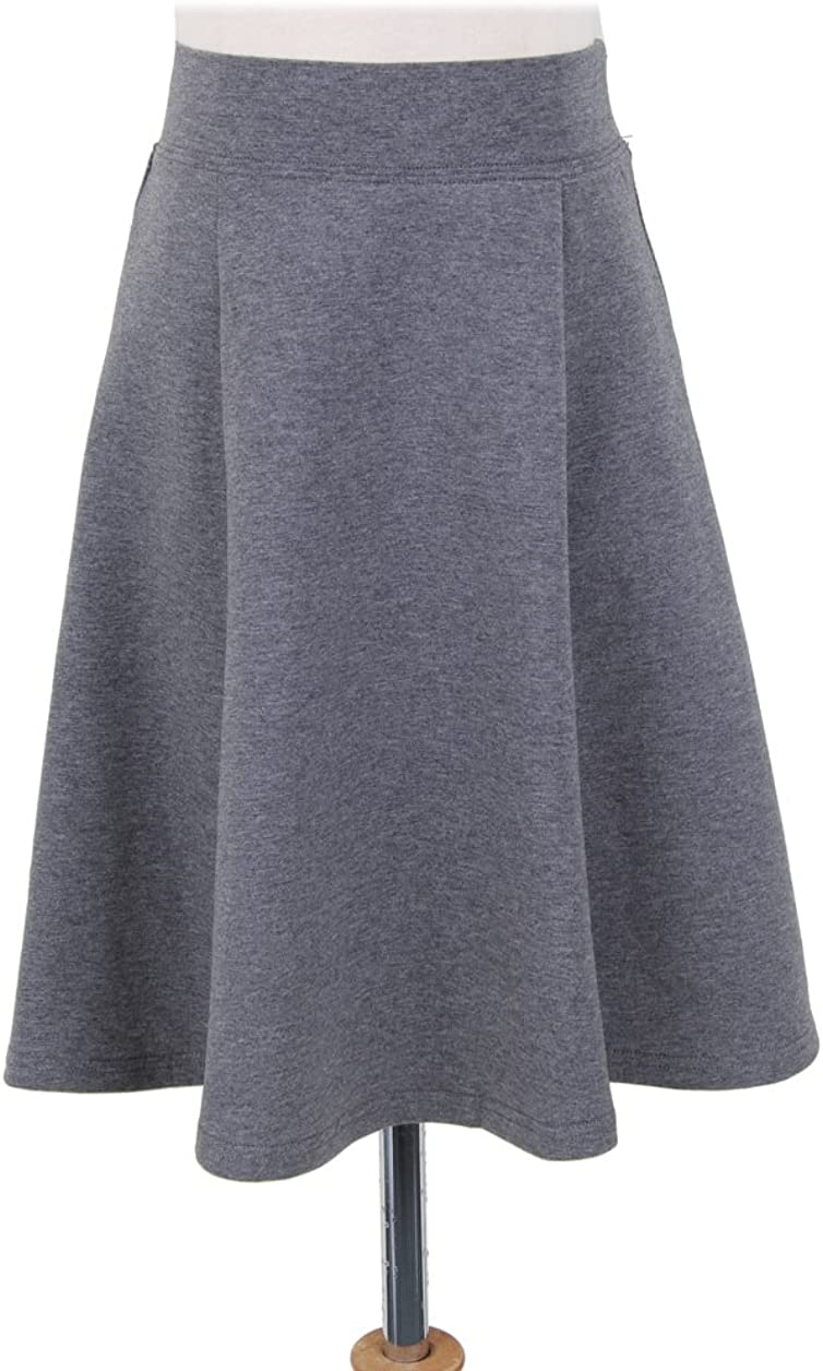 BGDK Girls Uniform Cotton Pleated Panel Skirt