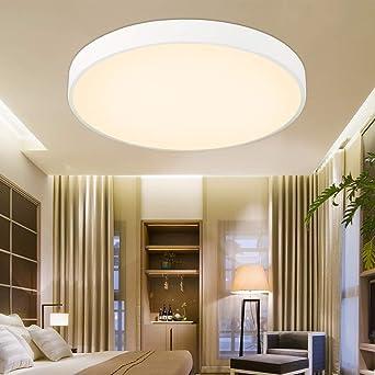 ETiME 18W Ultraslim LED Deckenlampe Warmweiß Ø30cm Deckenleuchte 5cm Dicke  Modern Lampe Energiespar Licht Für Schlafzimmer