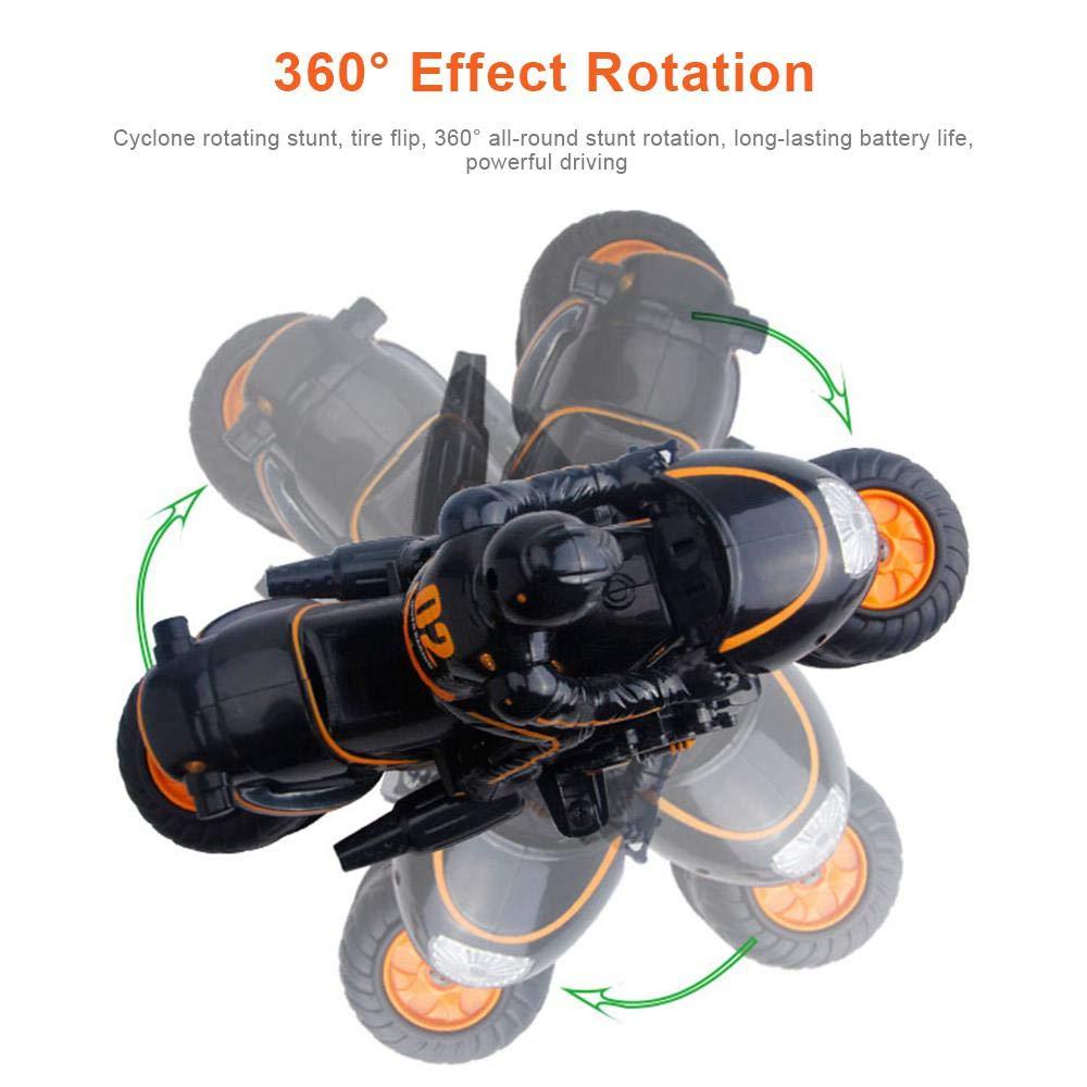 2.4 GHz Mando a Distancia 360 /° acci/ón giratoria Drift 2WD Alta Velocidad de Carrera Coche de Carreras Motocicleta para ni/ños y Adultos FOONEE Stunt Motorcycles
