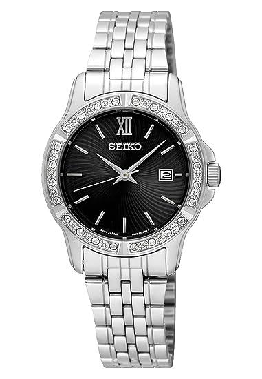 Seiko Reloj Analogico para Mujer de Cuarzo con Correa en Acero Inoxidable SUR733P1: Amazon.es: Relojes
