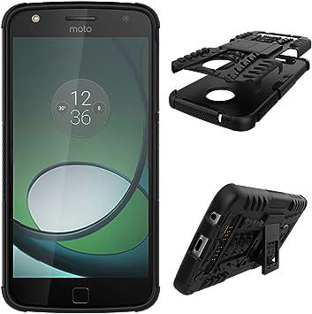 OFU®Para Motorola Moto Z Play Smartphone, Híbrido Caja de la Armadura para el teléfono Motorola Moto Z Play del teléfono- Negro: Amazon.es: Electrónica