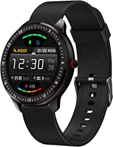 """DoSmarter Fitness Watch, 1.3"""" Touchscreen Smart Watch with Heart Rate Blood Pressure Monitor,Waterproof Fitness Tracker with Sleep Tracking, Pedometer, Calories Counter for Women Men"""