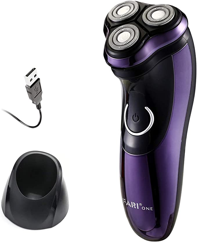 Afeitadora eléctrica FARI, afeitadora eléctrica recargable húmeda ...