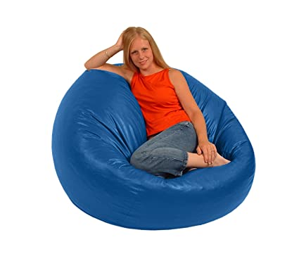Pleasant Comfy Bean Beanbag Large Vinyl Royal Blue Creativecarmelina Interior Chair Design Creativecarmelinacom