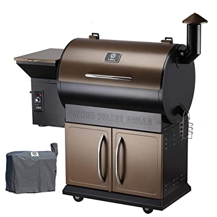 Genial Z Grills Wood Pellet Grill U0026 Smoker With Patio Cover,700 Cooking Area 7 In
