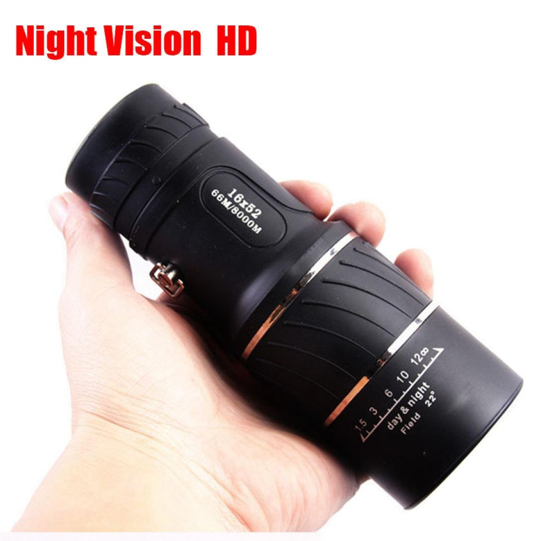 Monocular Telescope by Libison - HD High Power 16X52 Optics Lens Scopes Shockproof Portable BAK4 Night Vision Monocular Telescope with Cleaning Cloth, Sling