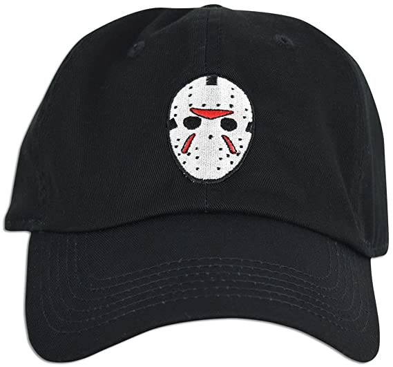 03d7e009be4 Mask Embroidered Friday the 13th Hat Baseball Cap Horror Jason Dad hat ( Black)