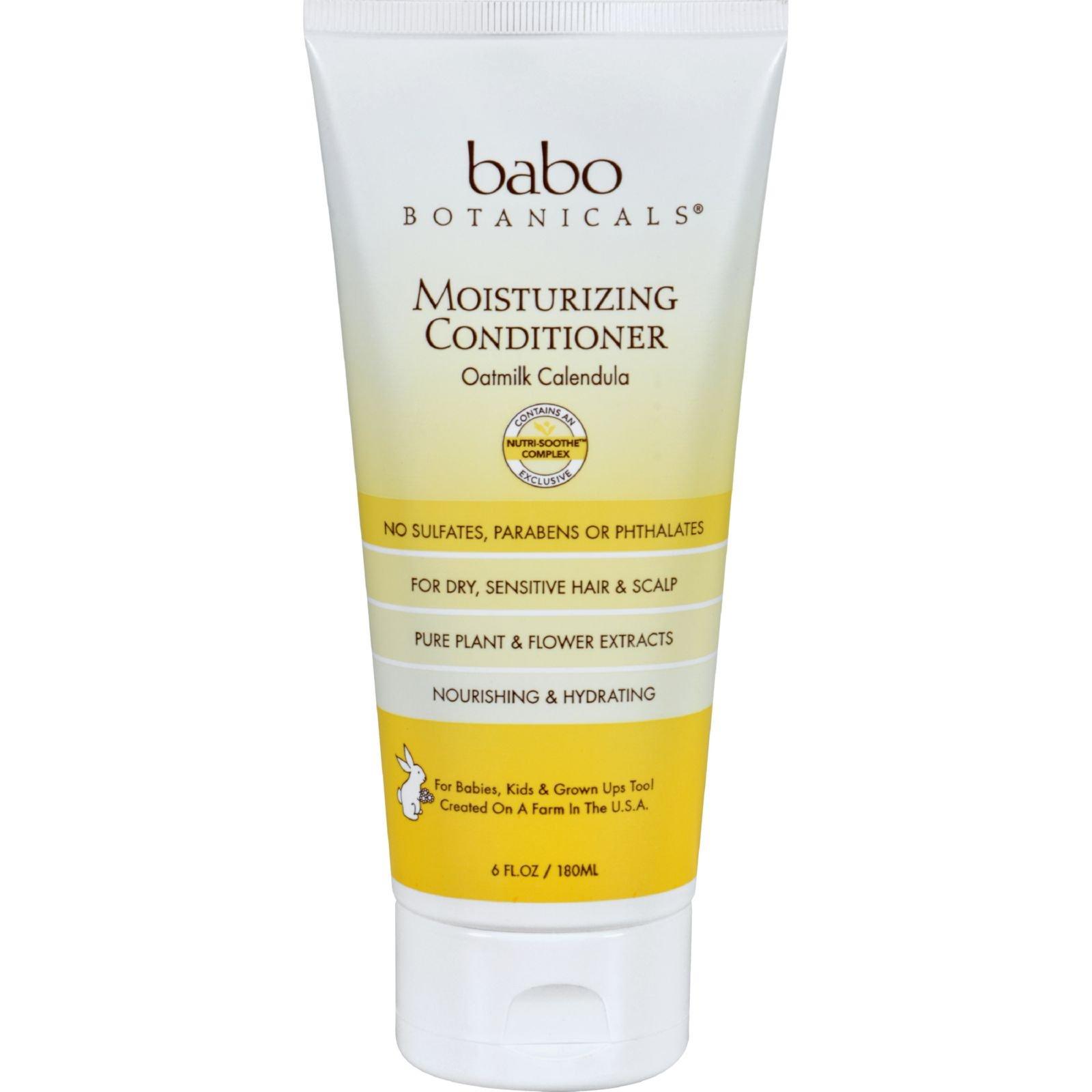 Babo Botanicals Conditioner - Moisturizing - Oatmilk - 6 oz - Dairy Free -