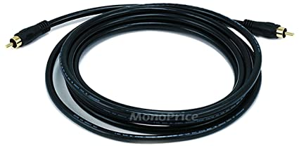 Monoprice 10ft Coaxial Audio/Video RCA Cable M/M RG59U 75ohm (for S