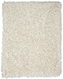 Anji Mountain 5-Foot-by-8-Foot Silky Shag Rug, Ivory