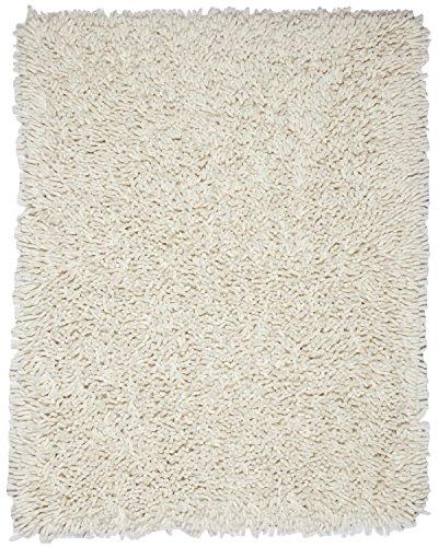 Anji Mountain AMB0651-0058 Silky Shag Area Rug, Ivory, 5 x 8-Feet - Bamboo Shag Coffee Bean