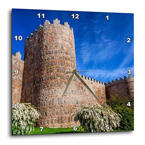 Castile Light 3 (3dRose Danita Delimont - Architecture - Outer walls surroud the city of Avila, Castile, Spain. - 15x15 Wall Clock (dpp_257892_3))