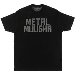 Metal Mulisha Mens Burn Overdye Short-Sleeve Shirt Large Black