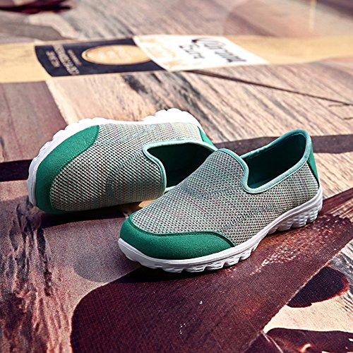 Madaleno Turnschuhe Damen Laufschuhe Atmungsaktiv Sportschuhe Mesh Sneaker Grün Atmungsaktiv Leichte RRr1qfx8