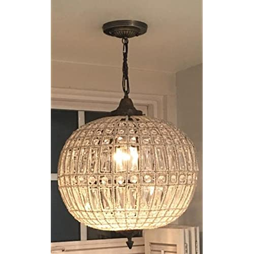 Egypt gift shops HANDMADE French Empire Basket Crystal Orbit Globe Ceiling Chandelier  Antique Replica Aged Bronze - Antique French Chandeliers: Amazon.com