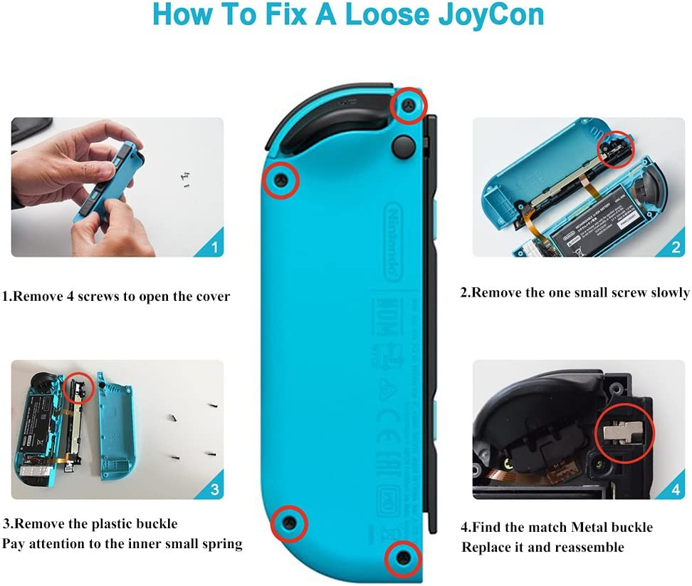 Metal Lock Buckles Repair Tool Kit Compatible With Amazoncom Diy Circuit Board 3d Plastic Case For Samsung Galaxy Note2 Nintendo Switch Ns Joy Con Screwdrivers Video Games