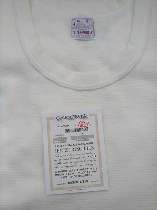 Liabel Maglia Intima Uomo 5140//833 Lana con PANCERA Manica Lunga Misure 3-4-5 Bianco