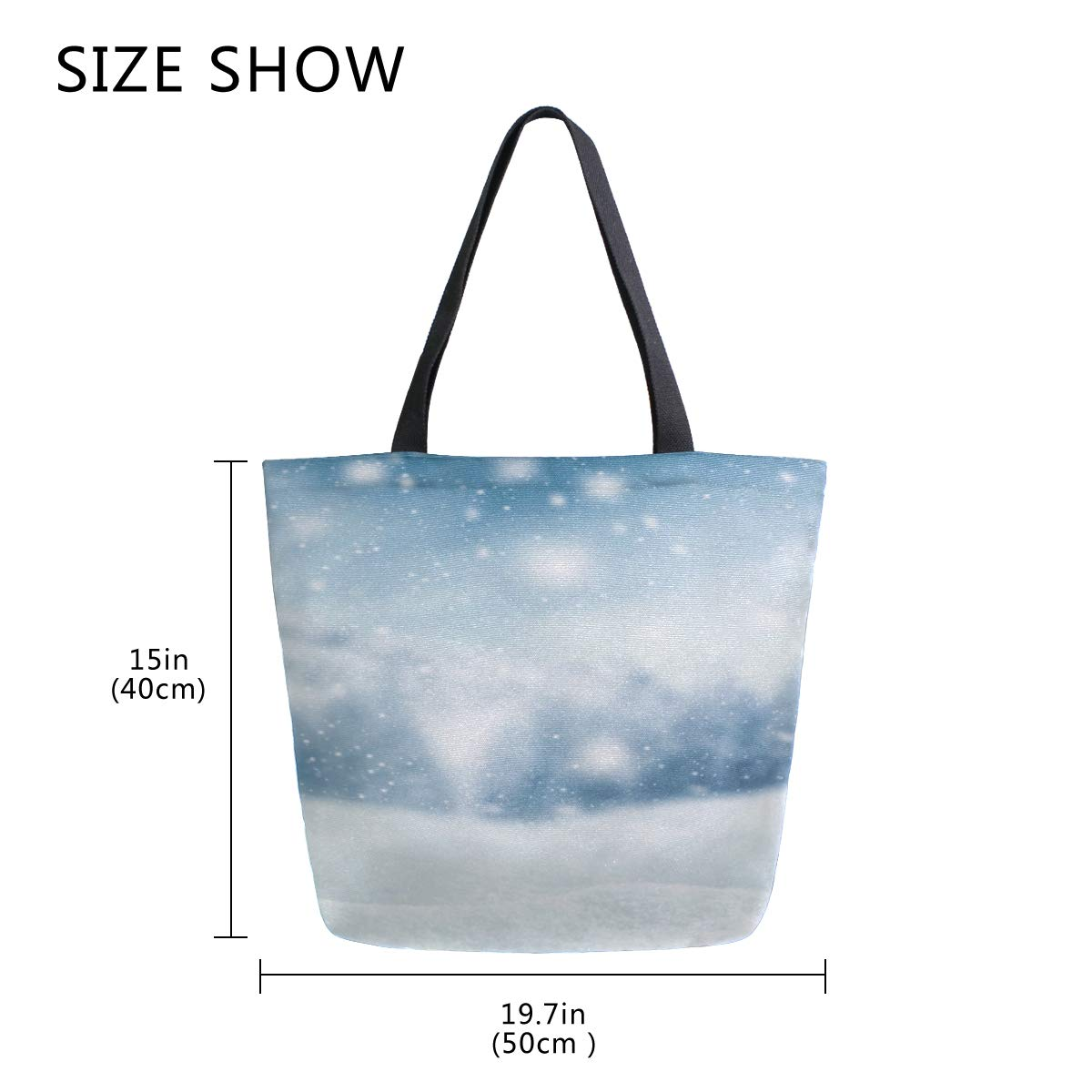 300caed327cd Amazon.com: Warm Winter Snow Scenery Portable Large Double Sided ...