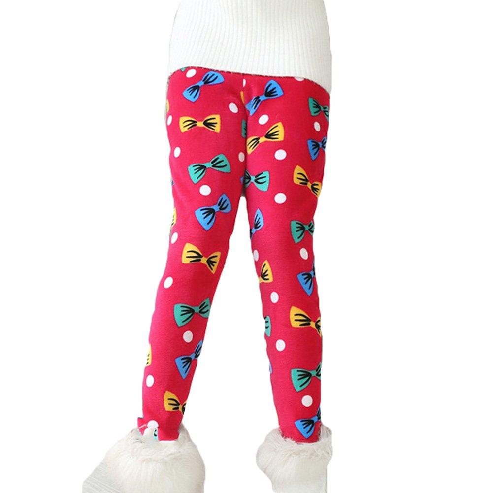 hibote Leggings invernali da ragazza a figura intera Stampa fiori Stretch Warmer Pants per età 1-13 anni M171217JRHK